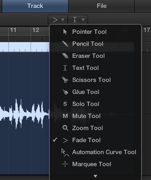 Select fade tool
